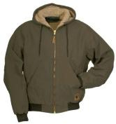 Berne Apparel HW430ODR560 3X-Large Regular High Country Hooded Jacket Sherpa Lined - Olive Duck