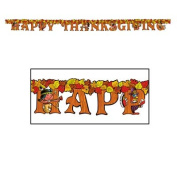 Beistle - 99213 - Happy Thanksgiving Streamer- Pack of 12