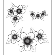 Heartfelt Creations 483658 Heartfelt Creations Cling Rubber Stamp Set 13cm . x 17cm . -Posy Patch Clusters