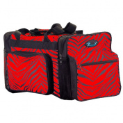 Pizzazz Performance Wear B200AP -RED -L B200AP Zebra Print Multi-Sport Bag - Red - Large