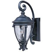 Maxim Lighting 41425WGBK Camden VX 24 H 3-Light Outdoor Wall Lantern - Black