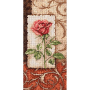 "Dimensions Gold Collection ""Petite Single Rose"" Counted Cross Stitch Kit, 10cm x 20cm"