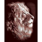 Reeves Lion Scraperfoil Artwork, Gold
