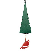 North Country Wind Bells Inc. 210.5001 Pointed Fir of the North with bear wind catcher