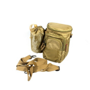 Blancho Bedding ZP001-KHAKI Luxury Retro Multi-Purposes Fanny Pack / Back Pack / Travel Lumbar Pack