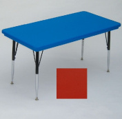 "Correll AR3060-REC-25 Rectangular-Shaped Resin Activity Table, 60Wx30""D, Red"
