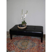 4D Concepts 550072 Large Faux Leather Coffee Table in Black
