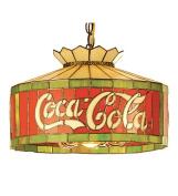 Meyda Tiffany Tiffany Art Glass Americana Recreation 6 Light Coca-Cola Pendant