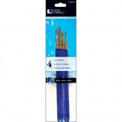 Loew-Cornell Taklon Craft Brush Set, 4-Pack