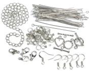 Cousin 479878 Jewellery Basics Metal Findings 145-Pkg-Silver Starter Pack