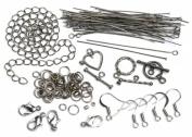 Cousin 479977 Jewellery Basic Metal Findings 145-Pkg-Gunmetal Starter Pack