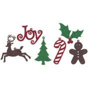 Creative Impressions 202831 Felt Shape Assortment 30-Pkg-Christmas