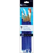 Loew-Cornell 1022214 Taklon Craft Brush Set-7-Pkg