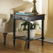 Convenience Concepts 6042185 French Country End Table with Drawer & Shelf