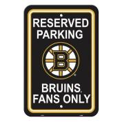 Fremont Die 80208 Boston Bruins Plastic Parking Sign