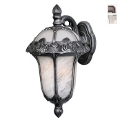 Rose Garden F-2711-SW-SG Medium Top Mount Light with Seedy Glass-Swedish Silver