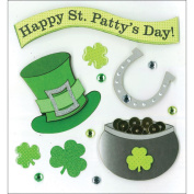 K & Company Happy St. Patrick's Day Grand Adhesions Stickers