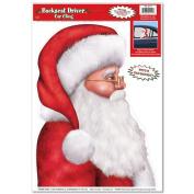 Beistle 22112 Santa Backseat Driver Car Cling