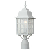 Craftmade Z275-04 Post Mount Lights with Seeded Glass Shades, White