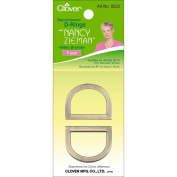 Clover Nancy Zieman's Bag Hardware D-Rings 2.5cm 2/Pkg-Satin Bronze