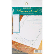Dimensions 356038 Filigree Scroll Dresser Scarf Stamped Embroidery-14 in. x 39 in.