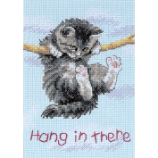 Dimensions 251718 Jiffy Hang On Kitty Mini Counted Cross Stitch Kit-5 in. x 7 in.