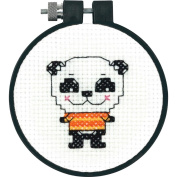 Dimensions 72-73705 Learn-A-Craft Cute Panda Counted Cross Stitch Kit-3 in. Round