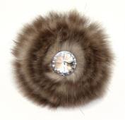 Laliberi Quick Clip Flowers, Faux Fur Bling Tan