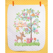 Dimensions Baby Hugs Happi Tree Quilt Stamped Cross Stitch Kit, 90cm x 110cm