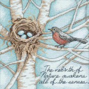 Dimensions Gold Collection Petite Robin's Nest Counted Cross Stitch Kit, 15.2cm x 15.2cm