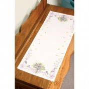 Dimensions Stamped Cross Stitch Dresser Scarf Kit 36cm x 100cm