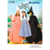 Simplicity Pattern Misses' Wizard of Oz Costumes,