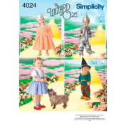 Simplicity Pattern Toddler's Wizard of Oz Costumes,