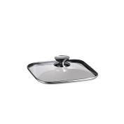 Berndes 606620 20.3cm . x 20.3cm . - Quadro Glass Lid with Stainless Knob
