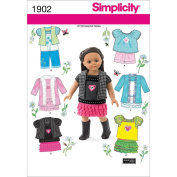 Simplicity 1902 Doll Clothes Sewing Pattern, Size OS