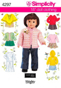 Simplicity Pattern 45.7cm Doll Clothes, One Size