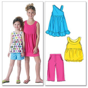 McCall's Patterns M6315 Children's/Girls' Tops, Dresses, Shorts and Pants, Size CCE