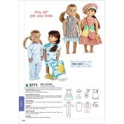 Kwik Sew Pattern Doll Clothes, Fits 46cm Dolls