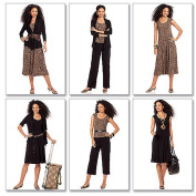 McCall's Patterns M5890 Misses' Jackets, Top, Dresses and Pants In 2 Lengths, Size A5