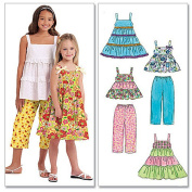 McCall's Pattern Children's and Girls' Tops, Dresses, and Capri Pants, CHJ