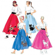 McCall's Patterns M5681 Misses'/Women's Skirt, Petticoat and Appliques, Size RR