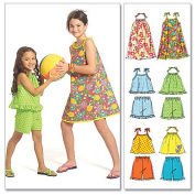McCall's Patterns M5419 Children's'/Girls' Tops, Dresses and Shorts, Size CCE