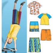 McCall's Pattern Children's and Boys' Shirt, Top and Shorts, CCE