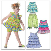 McCall's Patterns M6270 Toddlers'/Children's Tops, Dresses, Shorts and Capri Pants, Size CF