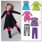 McCall's Pattern Children's and Girls' Tops, Dresses and Leggings, CL