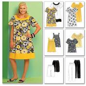 McCall's Patterns M5640 Women's Tops, Dresses, Shorts and Capri Pants, Size KK
