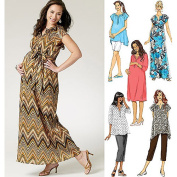 Butterick Pattern Misses' and Women's Maternity Top, Dress, Belt, Shorts and Pants, B5
