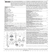 """McCall's Pattern 18"""" (46cm) Doll Clothes and Accessories, 1 Size Only"""