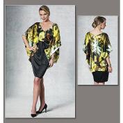 Vogue Patterns V1195 Misses' Top, Dress and Belt, Size AA