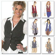 McCall's 1 Hour Vest Pattern 2260 Misses Unlined Vests in Two Lengths Size L 16-18
